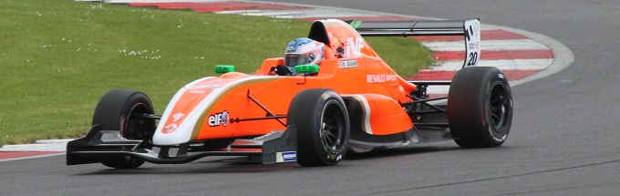 Matty in action at Silverstone this afternoon.