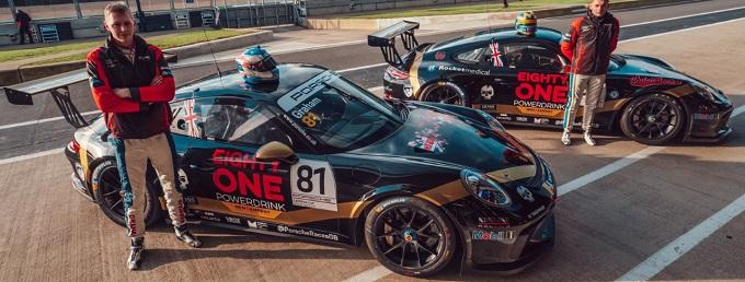 Matty Graham and Scott McKenna pose with their 2020 cars