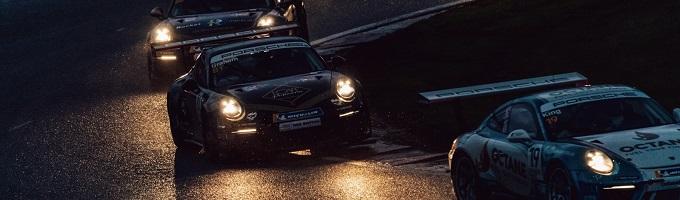 Porsche Carrera Cup at dusk